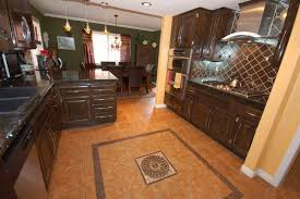 image of kitchen dark wood floor oak cabinets most widely used