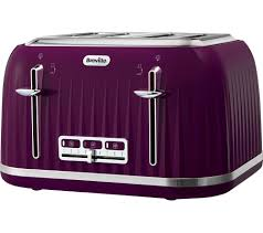Plum Toaster Buy Breville Impressions Vtt634 4 Slice Toaster Purple Free
