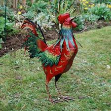 86 best chickens images on metal roosters and