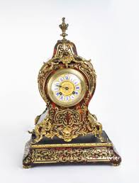 Mantel Clocks Antique Antique French Boulle Mantel Clock On Stand C 1870