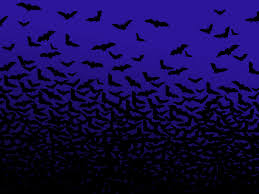 bat blue moon halloween powerpoint templates bat blue moon