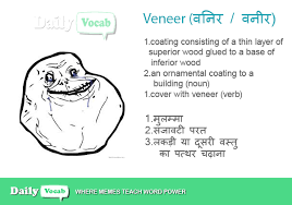 veneer meaning in with picture dictionary