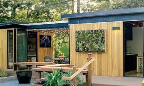 modern cottage prefab sunset prefab backyard guest house