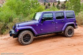 jeep purple 2017 test drive 2016 jeep wrangler backcountry gate to adventures