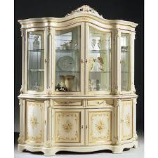 regina white 4 door china cabinet made in italy