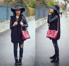 leather biker style boots wallace yolicia maison michel wide brimmed capeline trilby hat