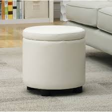 White Storage Ottoman White Ottomans Poufs You Ll Wayfair