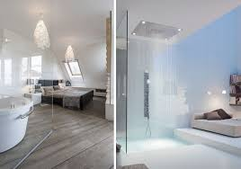 ouverte sur chambre une salle de bains dans la chambre joli place