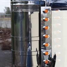 peterbilt air cleaner lights 24 5 peterbilt front air cleaner light bar by roadworks raney s