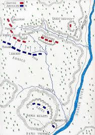 Camp Dearborn Map Battle Of Saratoga Second Bemis Height U0027s U2022 American