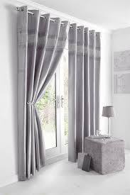 Curtain Pleating Tape Lined Curtains Eyelet Rings Or Pencil Pleat Tape Top Luxury Silver