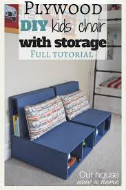 Kids Table And Chairs With Storage 25 Best Storage Chair Ideas On Pinterest Diy Chair Plywood
