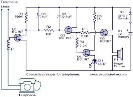 contactless telephone ringer circuit electronic circuits and