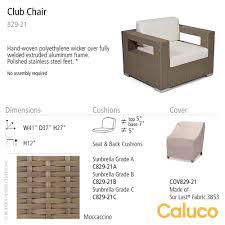 Caluco Patio Furniture 10 Tierra Club Chair Caluco Patio Furniture Metropolitandecor