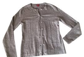 merona sweater merona grey cardigan size 8 m tradesy