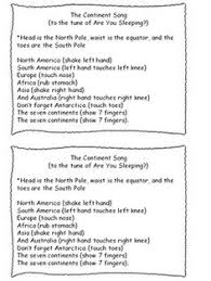 7 continents and 4 oceans songs freebie 3rd social studies