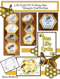 hexagon shaped activities beekeeping bee crafts honey bee