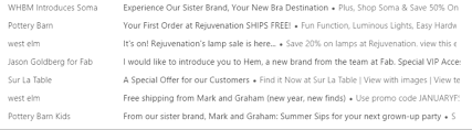 Pottery Barn Kid Promo Code Email Marketing Strategy Parting The Dark Clouds Of Graymail