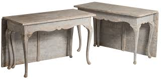 Drop Leaf Console Table Sold Two Swedish Rococo Style Drop Leaf Console Tables Circa 1890