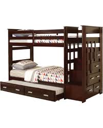 Bunk Bed Storage Stairs Shopping Sales On Allentown Espresso Wood Bunk