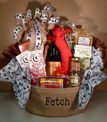 dog gift baskets dog themed basket for raffle idea mix of treats for owner pet