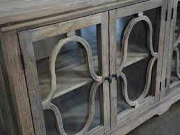 awesome pertaining to rustic cabana 3 glass door buffet cabinet