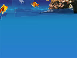 Water Powerpoint Templates by Fish Powerpoint Template Blue Waters With Fish Powerpoint Template