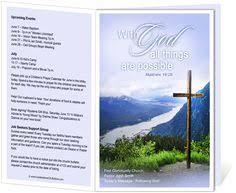 church bulletin templates cross church bulletin template with