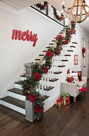Modern Spanish House Decorated For Christmas Digsdigs by Best 25 Christmas Stair Garland Ideas On Pinterest Christmas