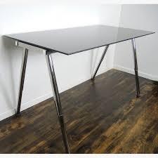 Ikea Adjustable Height Standing Desk Ikea Galant Adjustable Height Glass Standing Desk Work Table Ebth