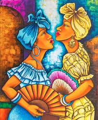 ana gladys falcon 4b acrylic cuban painting on canvas 28 x 35