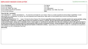 body masker cover letter