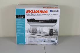 sylvania skcr2713 cd player bluetooth radio under counter music sylvania skcr2713 cd player bluetooth radio under counter music system silver