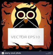 halloween photo background happy halloween background with owl orange color stock photo