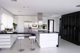 white kitchens with granite countertops gray metal bar stool white
