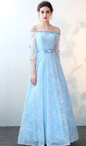 light blue formal dresses lace prom dress light blue prom dress half sleeves prom dress
