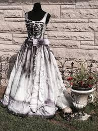 Halloween Wedding Shoes by Zombie Skeleton Wedding Dress Costume Corpse Bride Sugar Skull
