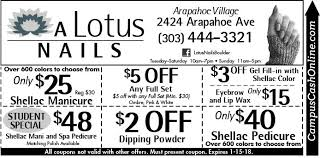 a lotus nails campus cash coupons a web coupon brought to you
