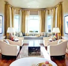 The Bay Living Room Furniture Bow Window Treatment Ideas Living Room Window Treatment Ideas For