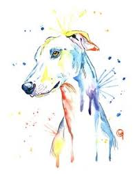print of greyhound painting by alicia vannoy call free shipping
