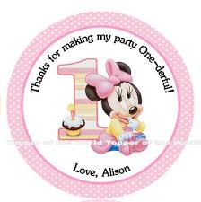 12 personalized disney baby minnie mouse personalized