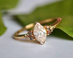 brown diamond engagement ring brown diamond ring etsy