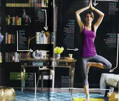 Home Yoga Room by A Glam Yoga Retreat Elements Of Style Blog
