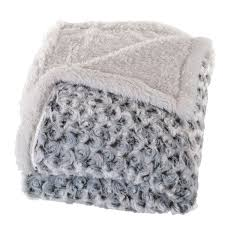 home plush flower fleece sherpa throw blanket free