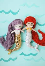 make your own plush mermaid plush dolls with downloadable pattern a beautiful mess