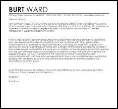 purchasing associate cover letter