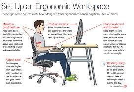 Computer Desk Posture Ergonomic Computer Desk Setup Stunning Office Design