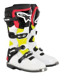 white motocross boots 459 95 alpinestars tech 8 light boots 139578