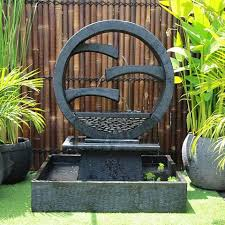 modern water feature wagon wheel concrete modern water feature large 150cm