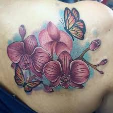 40 orchid on back and shoulder in 2017